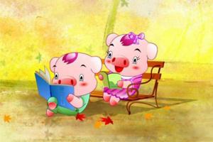 小猪上学,孩教圈