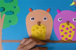 最新儿歌,儿童故事,儿童动画,睡前故事,孩教圈,树梢上的猫头鹰
